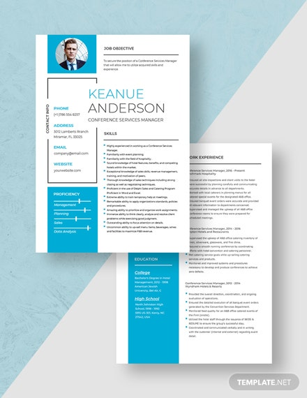 Conference Services Manager Resume Download