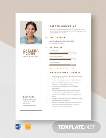 Family Advocate Resume Template