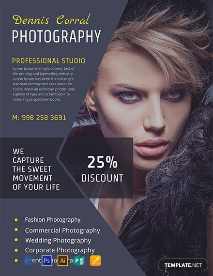 11  free photography flyer templates