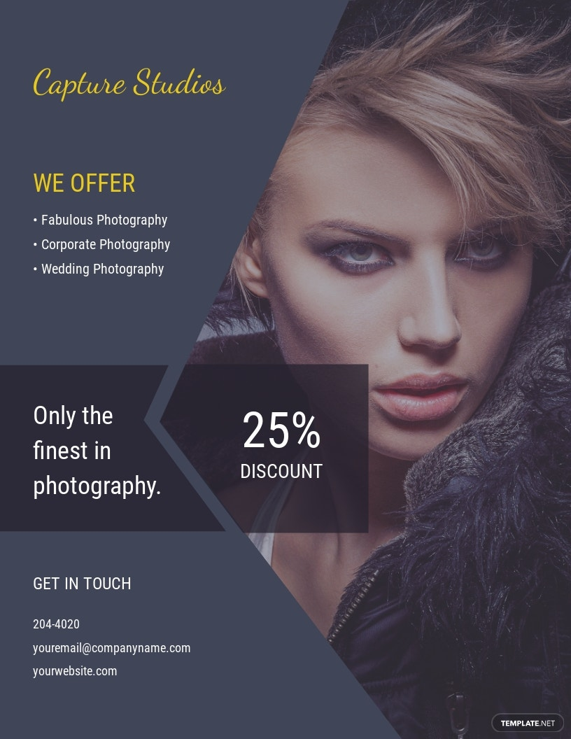 Editable Photography Flyer Template