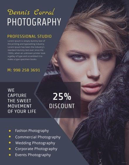 Editable Photography Flyer Template