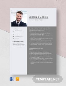 Fashion Merchandiser Resume Template