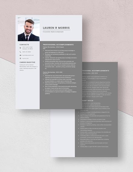 Fashion Merchandiser Resume Download