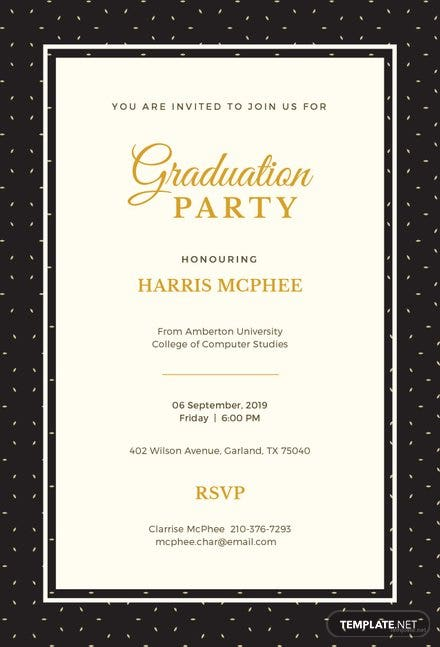High School Graduation Invitation Template | Free Templates