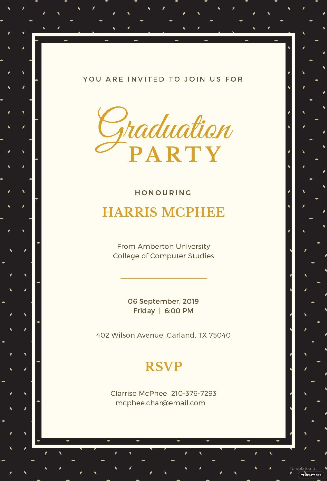 free graduation invitation template in adobe photoshop illustrator microsoft word publisher. Black Bedroom Furniture Sets. Home Design Ideas
