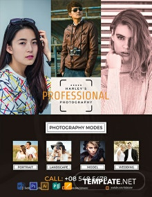 Free Professional Photography Flyer Template