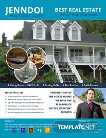 Free Open House Agent Flyer Template