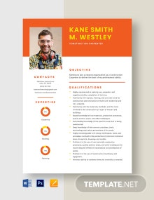 Construction Carpenter Resume Template
