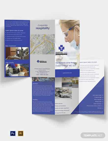 Free Healthcare Tri-fold Brochure Template