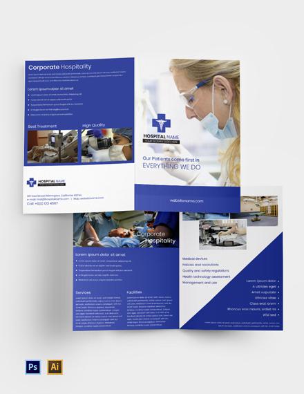 Free Healthcare Bi-fold Brochure Template