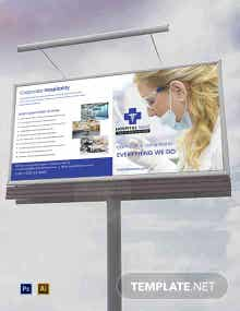 Free Healthcare Billboard Template