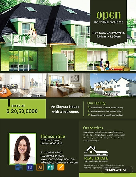 Free Real Estate Open House Flyer Template