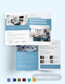 Architect Interior Bi-Fold Brochure Template