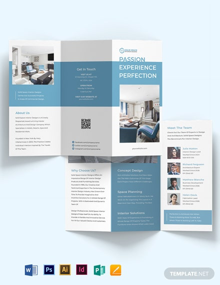 Architect Interior Tri-Fold Brochure Template