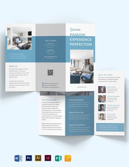 Architect Interior Tri-Fold Brochure Template