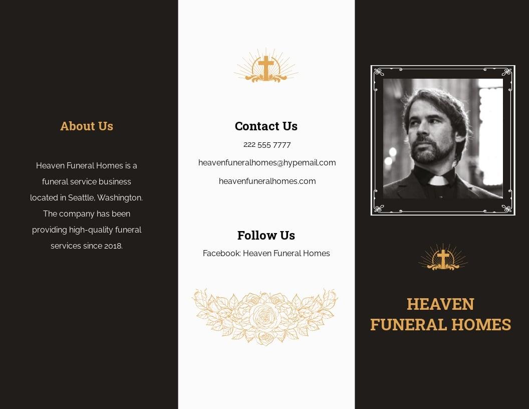 Catholic Funeral Memorial Tri Fold Brochure Template.jpe