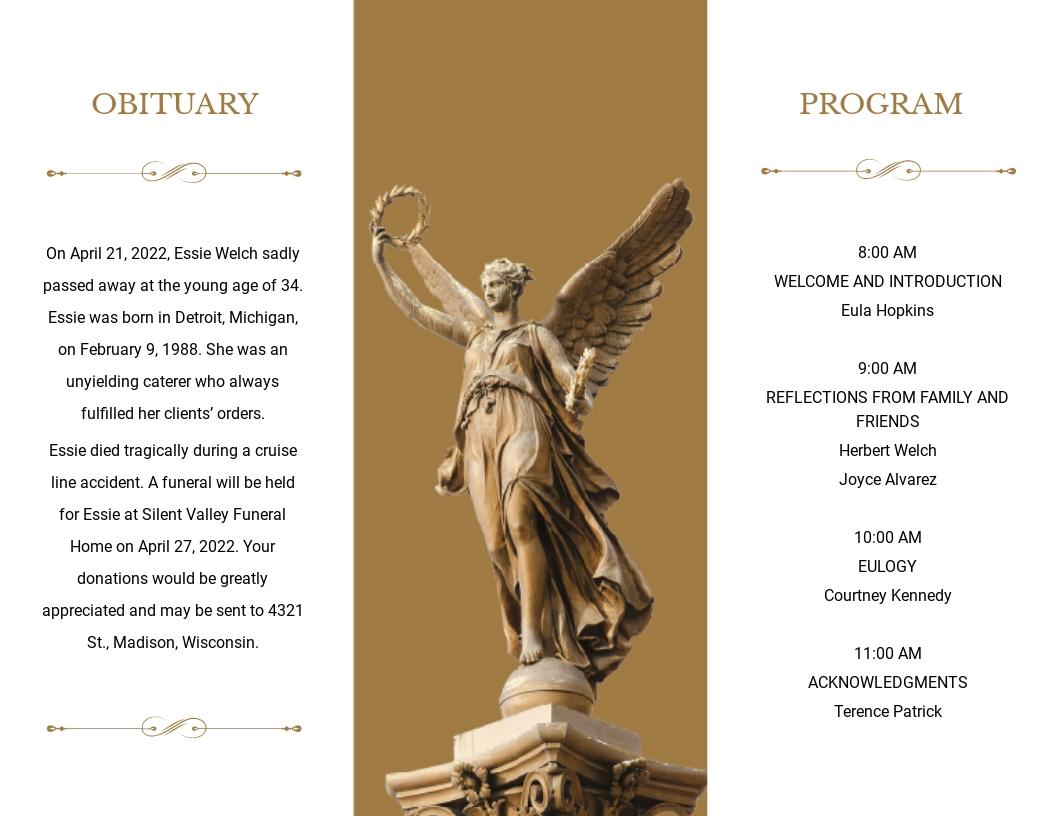 Catholic Funeral Obituary Tri Fold Brochure Template 1.jpe