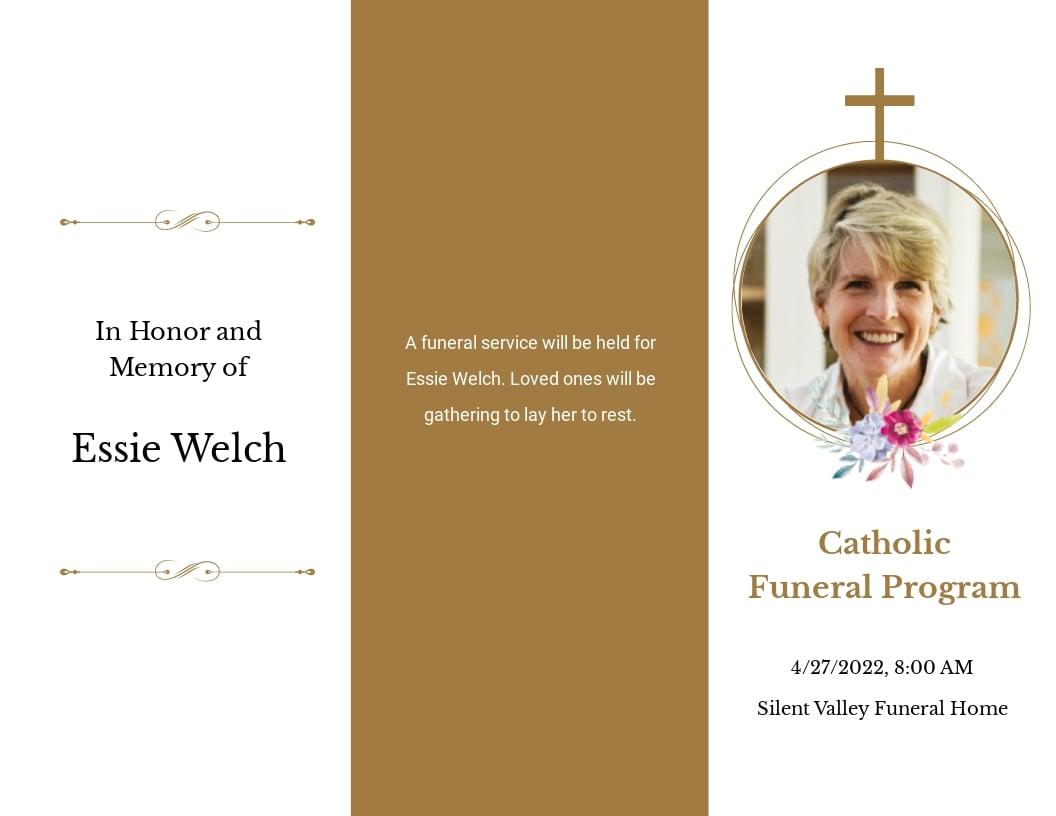 Catholic Funeral Obituary Tri Fold Brochure Template.jpe