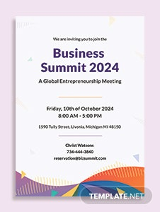 Free business meeting invitation template in psd ms word publisher formal meeting invitation template cheaphphosting Images