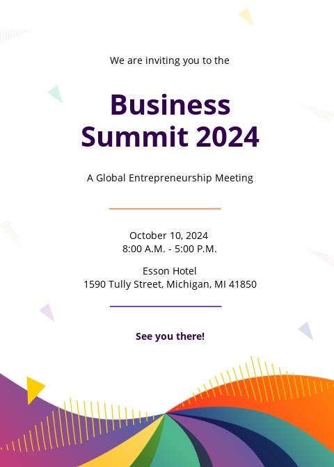 Free Formal Meeting Invitation Template