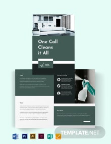 Cleaning Services Company Bi-Fold Brochure Template