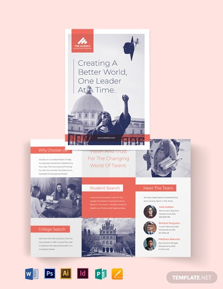 College Recruitment Bi-Fold Brochure Template