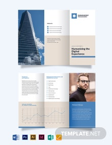 Corporate Annual Report Tri-Fold Brochure Template