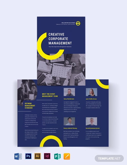 Corporate Event Management Bi-fold Brochure Template