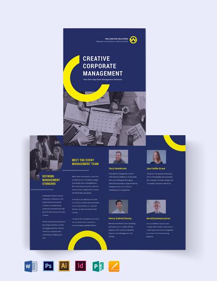 Corporate Event Management Bi-fold Brochure Template