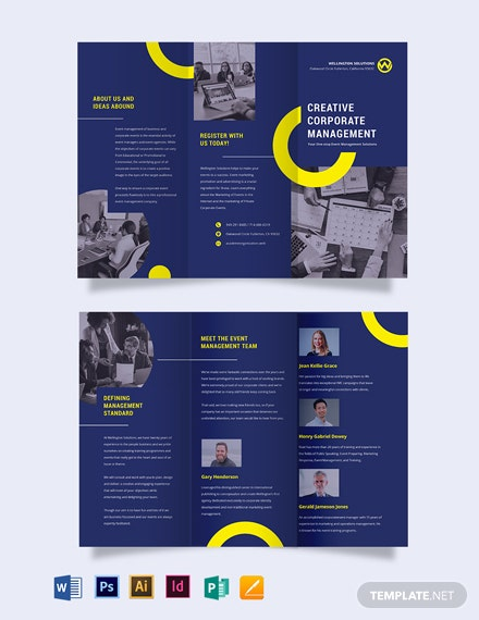 Corporate Event Management Tri-fold Brochure Template