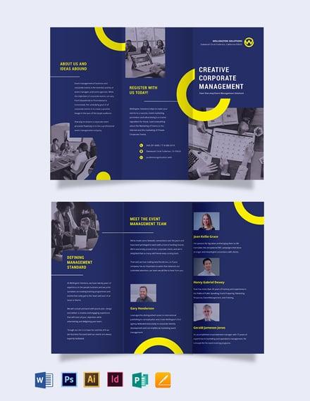 Corporate Event Management Tri-fold Brochure Template