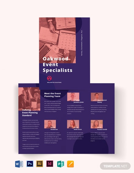 Corporate Event Planner BiFold Brochure Template