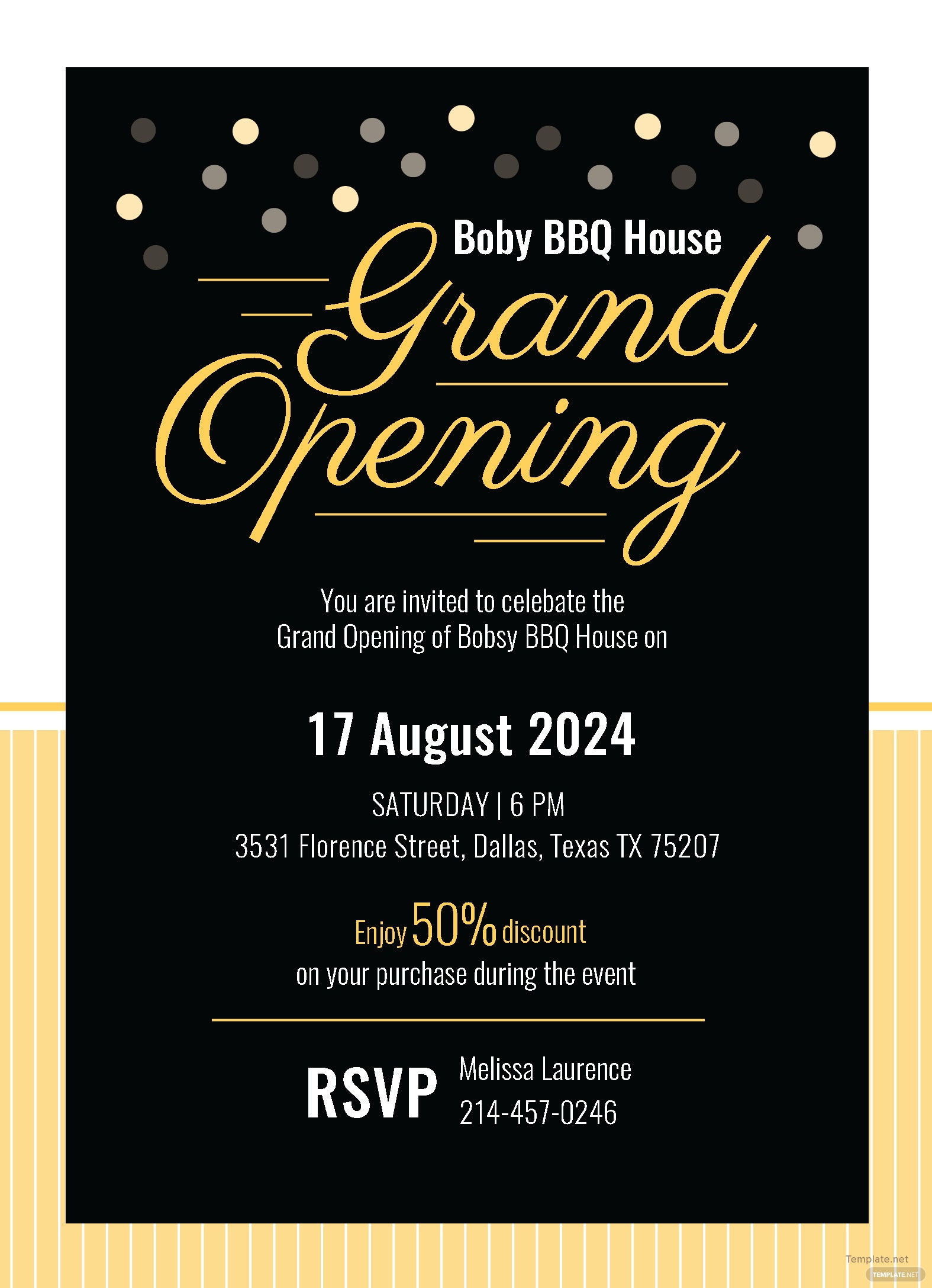 grand opening invitation card template in adobe