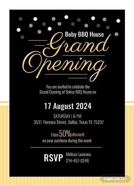 grand opening invitation card template  download 344
