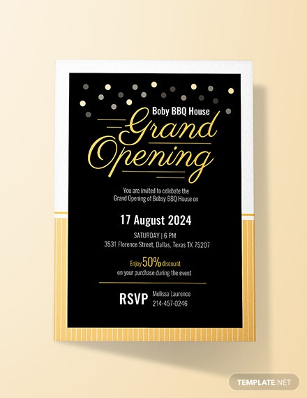 free grand opening invitation card template  download 519