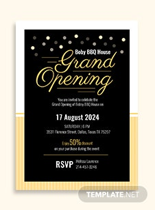 Office opening invitation card template in adobe illustrator grand opening invitation card template stopboris Gallery