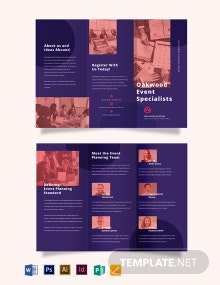 Corporate Event Planner Tri-Fold Brochure Template