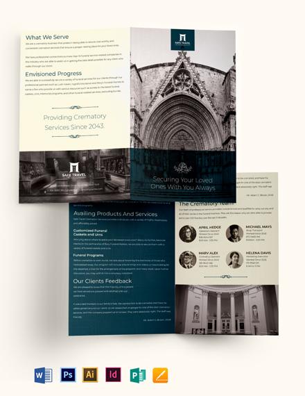 Crematory Funeral Home Bi-Fold Brochure Template