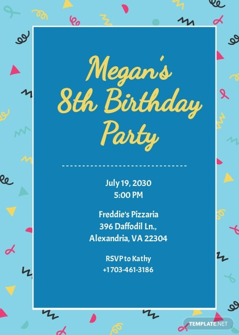 Kid's Birthday invitation Template