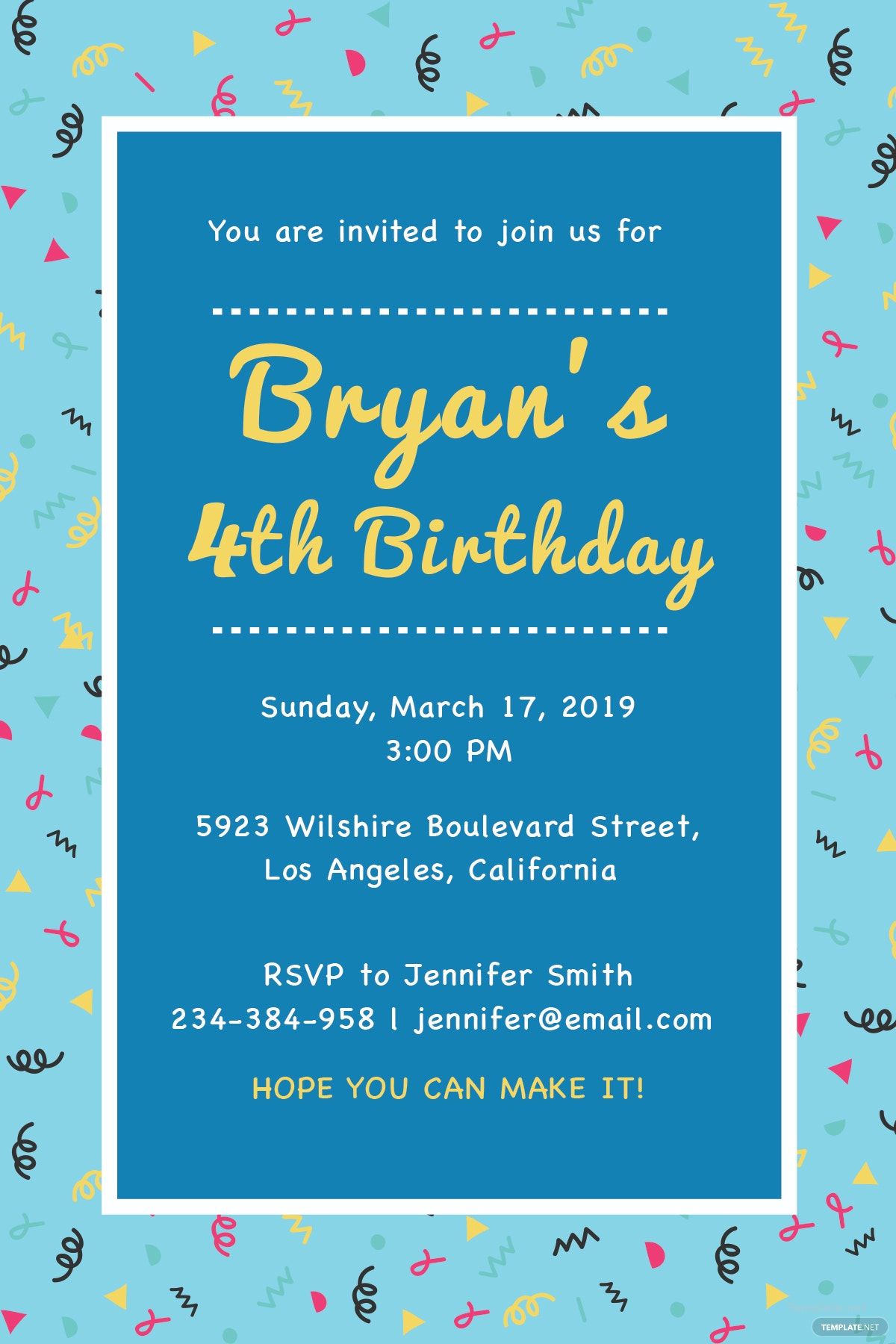 Free Kids Birthday invitation Template in Adobe Photoshop ...