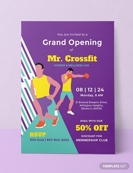 Free Gym Opening Invitation Template Download 344 Invitations In