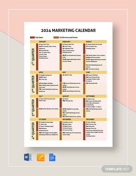 marketing calendar 2