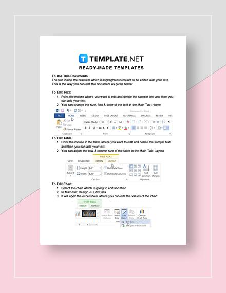Printable Social Media Calendar Instructions