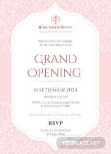 Grand opening invitation card template in adobe illustrator hotel opening invitation card template stopboris Gallery