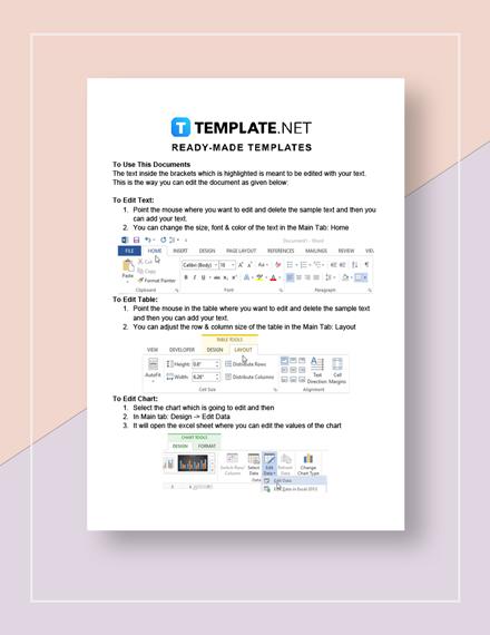 Annual Report Calendar Instructions