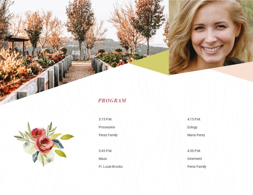 Floral Funeral Obituary Tri Fold Brochure Template 1.jpe