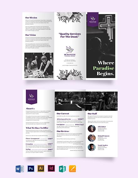 Funeral Home Tri-Fold Brochure Template