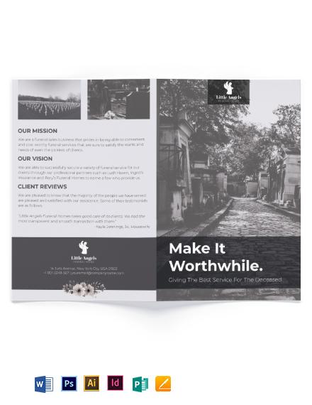 Funeral Home Sales Bi-Fold Brochure Template