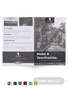 Funeral Home Sales Bi-Fold Brochure Template