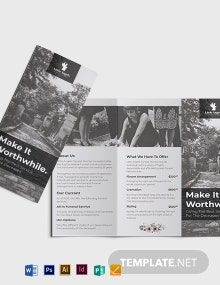 Funeral Home Sales Tri-Fold Brochure Template